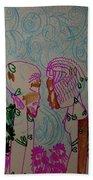 Kintu And Nambi  Folktale Beach Towel