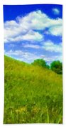 Pictures Of Oil Paintings Landscape Beach Towel