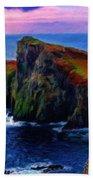 Original Landscape Paintings Beach Towel