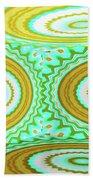 3d Candy Circles  Beach Towel