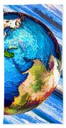 3d Render Of Planet Earth 10 Beach Towel