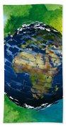 3d Render Of Planet Earth 14 Beach Sheet
