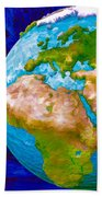 3d Render Of Planet Earth 6 Beach Towel