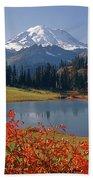 3m4824 Tipsoo Lake And Mt. Rainier H Beach Towel