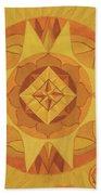 3rd Mandala - Solar Plexus Chakra Beach Towel