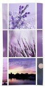 3x3 Purple Beach Towel