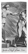 Adam And Eve Beach Towel