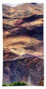 aerial view of Leh ladakh landscape Jammu and Kashmir India Beach Towel