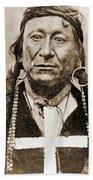 American Indian Chief Beach Towel