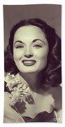 Ann Blyth, Vintage Actress Beach Towel