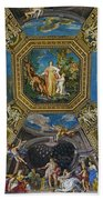 Artistic Ceilings Within The Vatican Museums In The Vatican City Beach Sheet