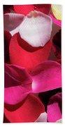 Back Lit Flower Petals 1 Beach Towel