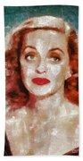 Bette Davis Vintage Hollywood Actress Beach Sheet