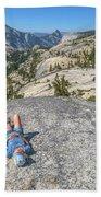 Break After Yosemite Hiking Beach Towel