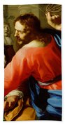 Christ Cleansing The Temple Beach Towel