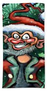 Christmas Elf Beach Towel