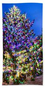 Christmas Tree Near Panther Stadium In Charlotte North Carolina Beach Towel