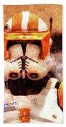 Clone Trooper Commander - Wax Style Beach Towel