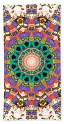 Colorful Concentric Abstract Beach Towel