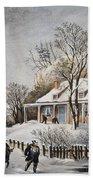 Currier & Ives: Winter Scene Beach Towel