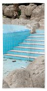 Derelict Swimming Pool Beach Towel