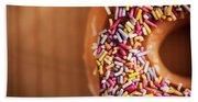 Donut And Sprinkles Beach Towel
