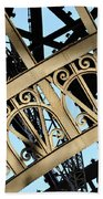 Eiffel Tower Detail Beach Towel