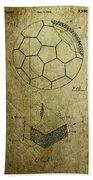 Football Patent Beach Towel