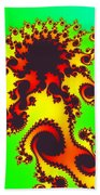 Fractal Floral Pattern Beach Towel