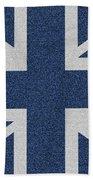 Great Britain Denim Flag Beach Towel