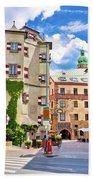 Historic Street Of Innsbruck View Beach Towel