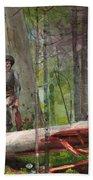 Hunter In The Adirondacks Beach Sheet