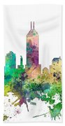 Indiana Indianapolis Skyline Beach Towel