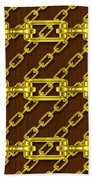 Iron Chains With Wood Seamless Texture Beach Towel