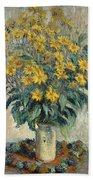 Jerusalem Artichoke Flowers Beach Towel
