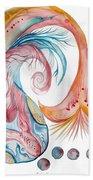 Koi Fish-watercolor Beach Towel