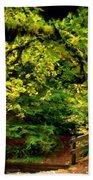 Landscape Acrylic Painting Beach Towel