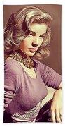 Lauren Bacall, Vintage Actress Beach Towel