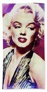Marilyn Monroe, Actress And Model Beach Towel