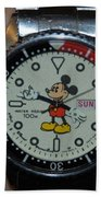 Mickey Mouse Watch Beach Towel