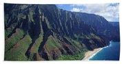 Na Pali Coast Aerial Beach Towel