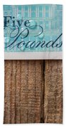 New Uk Five Pound Note Beach Towel