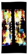 4 Panels Of Seville Abstract Beach Towel