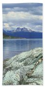 Panoramic View Of Ushuaia, Tierra Del Beach Towel
