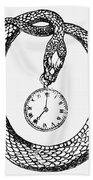 Pocket Watch, 19th Century Beach Towel
