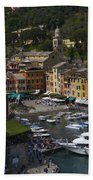 Portofino In The Italian Riviera In Liguria Italy Beach Towel