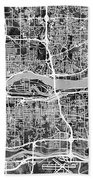 Quad Cities Street Map Beach Towel