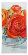 Ranunculus Beach Towel