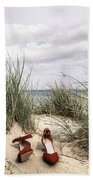 Red High Heels Beach Towel