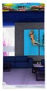 Rooftop Saltwater Fish Tank Art Beach Towel
